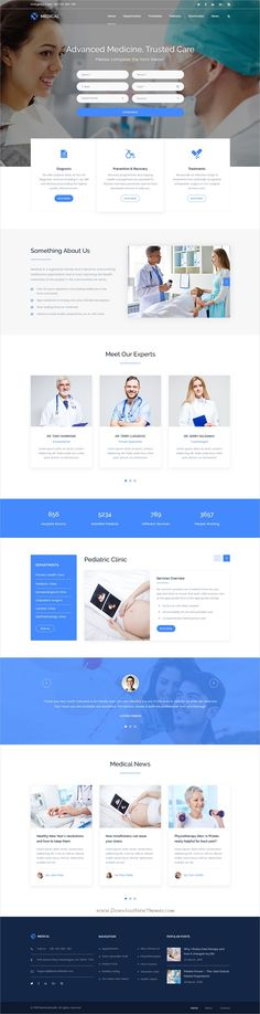 Medical is a wonderful #PSD template for Hospitals, Dentists, #Psychologists clinics or #Laboratories related websites download now➩ https://themeforest.net/item/medical-health-psd-template/19750700?ref=Datasata