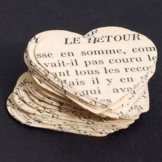 French paper heart punches vintage craft by TanithsOddsAndEnds, $4.00