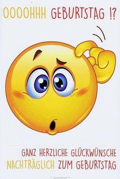 Smiley Emoji, Emoticon, Birthday Wishes, Happy Birthday, Fictional Characters, Gb Bilder, Anstatt, Smileys, Cartoons