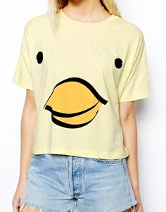 Image 3 ofASOS Cropped T-Shirt with Chick Print