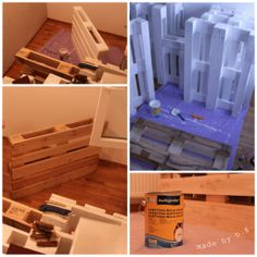 ...painting... Bed With Led Lights, Pallet, Painting, Painting Art, Paintings, Wood Pallets, Painted Canvas, Pallets, Drawings