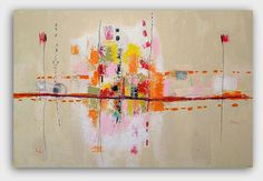 Large Original Landscape Abstract  Painting by by ChristinaRomeo, $880.00