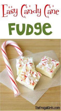 Candy Cane Fudge Recipe! ~ from TheFrugalGirls.com ~ this ridiculously EASY 3 ingredient Fudge is over the top delicious!! This yummy Peppermint treat is he perfect addition to Christmas parties, holiday dessert tables, and such a sweet little gift for friends and neighbors! #recipes #thefrugalgirls
