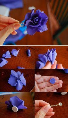 Simple Handmade Cloth Rose