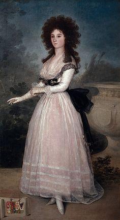 ca. 1789 Tadea Arias de Enríquez by Francisco de Goya y Lucientes (Museo Nacional del Prado - Madrid Spain)