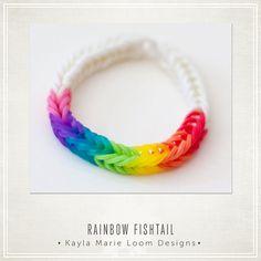 Party Favors - Loom Rainbow Fishtail Bracelet