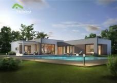 Maison contemporaine en forme de H | Website, Architecture and Villas