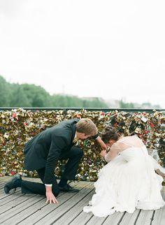 Destination wedding idea:  Paris, and visit the Love lock bridge!