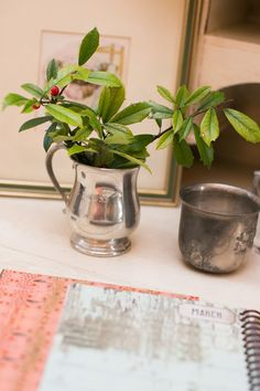 Inspiration: even those tucked away baby cups can be part of your holiday design.fill with greenery. Spite House, Blue Design, Greenery, Fill, Cups, Design Inspiration, Interior Design, Holiday Decor, Christmas