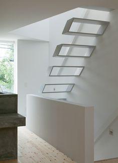 Funky stair design...   love the originality - House in Tamatsu   by Ido, Kenji Architectural Studio
