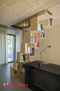 ideas para decorar escaleras, espacios pequeños, libreros