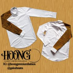 White Shirt with batik sogan price: 350k idr info: bbm: 5771704A line: galoehnatra ig: galoehnatra