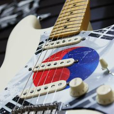 Pickguard for Fender Strat Guitar - Korean Flag - FREE Shipping #Stormguitar