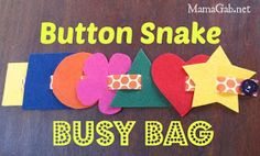 MamaGab: Button Snake Busy Bag