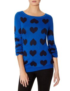 Intarsia Heart Sweater | Graphic Pattern Sweater | THE LIMITED