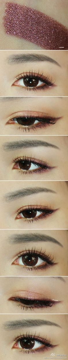"""Cute makeup that women who go for that popular shitty artificial contouring, super smokey eyes and """"perfect"""" looking eyebrows thinking they're looking like Kim Kardashian could learn ♡"""