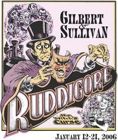 Ruddigore (2006) - Musical Theatre Productions.  GREAT poster!  X^D