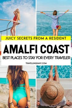 Let's see where to stay on the Amalfi Coast, listing the best towns for every type of traveler, from the party lovers to the romantic couples! Costa, Italy Travel Tips, Travel Destinations, Best Of Italy, Italy Vacation, Italy Trip, Vacation Places, Visit Italy, Rome Italy