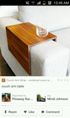 Arm rest drink holder for your living room couch