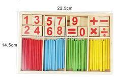 1 Unidades juguete matemáticas montessori Color matemática palillos educativos bloques de construcción Digital juguetes de madera matemáticas material didáctico