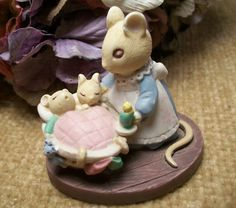 Miniature Figurine Animals Mice Mom and by SpringJewelryThings, $9.95