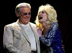 George Jones and Dolly Parton.