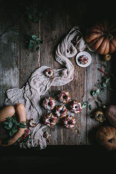 Pumpkin Mascarpone Mini Bundts with Creme Fraîche Glaze by Eva Kosmas Flores