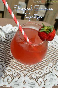 Tropical Summer Spritzer non-alcoholic www.leavenoleftovers.com