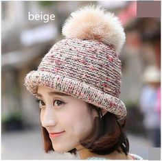 Fashion roll brim knit hat for women warm stocking cap autumn wear