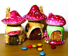 Get crafty this summer and make your own whimsical fairy garden with these creative DIY fairy garden ideas as inspiration. Since it's such a fun and easy activity, it makes a great summer craft idea Clay Fairy House, Fairy Houses, Gnome House, Clay Fairies, Fairy Garden Accessories, Fairy Doors, Weekend Projects, Miniature Fairy Gardens, Art And Craft