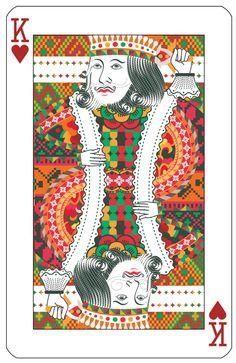 Poker cards series by Jing Zhang, via Behance