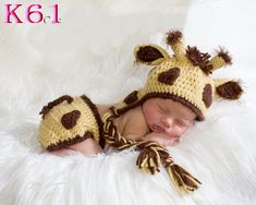 baby giraffe diaper cover and hat, crochet