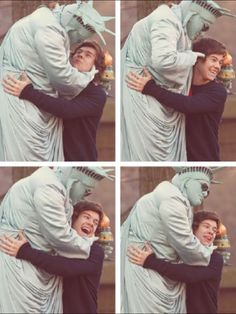 the fact that harry shows more affection to a man dressed up as the statue of liberty than taylor swift makes me laugh really hard.