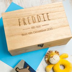 Personalised Baby Boy Keepsake Box