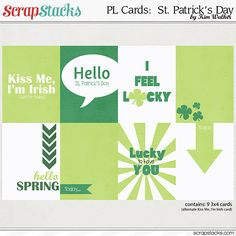 Free St. Patrick's Day Cards for Project Life