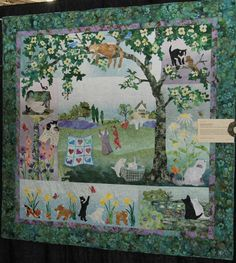 This blog entry will only contain SOME of the incredible appliqued quilts that were in the show. I don't think there is a show in the cou...