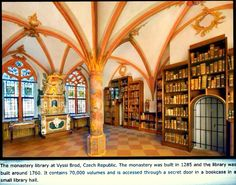 St Nikolaus-Hospital Library in Bernkastel-Kues, Germany, built in Old Libraries, Bookstores, Library Pictures, Beautiful Library, Book Nooks, Library Books, Czech Republic, Renaissance, Germany