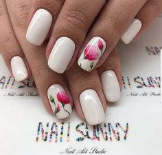 Pink Poppy Nails
