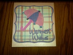 Wedding Shower Card using Cricut Wild Card Cartridge