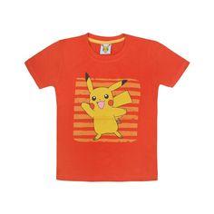 Jazzup Pokemon Orange T-Shirt For Boys