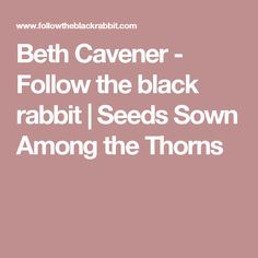 Beth Cavener - Follow the black rabbit |   Seeds Sown Among the Thorns