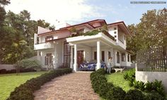 House at kaduwela,Sri Lanka 3d Scene made with sketchup vray and adobe photoshop