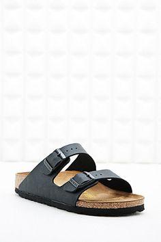 Birkenstock Arizona Birko Leather Sandals in Black - Urban Outfitters Birkenstock Sandals, Birkenstock Arizona, Two Strap Sandals, Black Edition, Shoe Closet, Shoe Game, Her Style, Leather Sandals, Sneakers