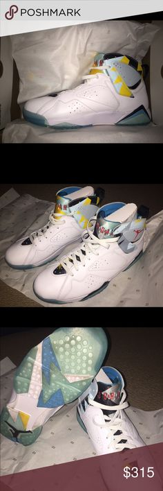 AIR JORDAN 7 RETRO N7 limited edition! Only worn twice, in perfect condition, just a slight bit of dirt on the bottom of shoes but I can clean before shipping! NEED SOLD ASAP! Nike Shoes Sneakers