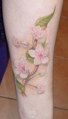 sakura-flowers-3d-tattoos-color-pics-beautiful.jpg (346×604) | FollowPics