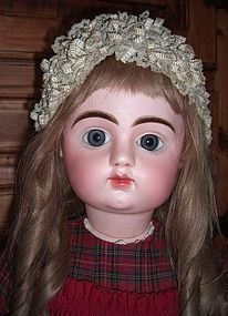 """HUGE 35"""" French Antique Doll - Mystery Maker - Straight Wrists - Three Sisters Antiques #dollshopsunited"""