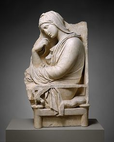 Marble stele (grave marker) of a woman - Late Classical period / Ancient Greek culture / Attic culture - circa 350 B. Roman Sculpture, Art Sculpture, Stone Sculpture, Ancient Greek Art, Ancient Rome, Ancient Greece, Ancient History, Classical Period, Classical Art