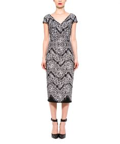 Look what I found on #zulily! Gray Lace-Print V-Back Dress by Alexia Admor #zulilyfinds