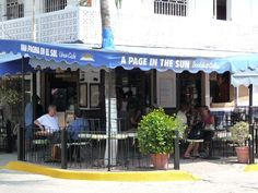 A Page in the Sun. Puerto Vallarta, Book store coffee shop. Was here at least once a week doing the two for one book trade!
