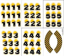 Printable Construction crew yellow hard hat cupcake toppers with numbers 1 to 5 and coordinating wrappers. Construction Cupcakes, Under Construction Theme, Construction Birthday Parties, Boy Birthday Parties, Cupcake Toppers Free, Tool Party, Birthday Numbers, Holidays And Events, First Birthdays